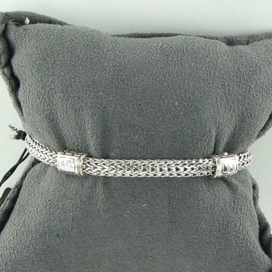 John Hardy Classic Chain Hammered 4 Station 5mm Bracelet Sterling Silver Image 4