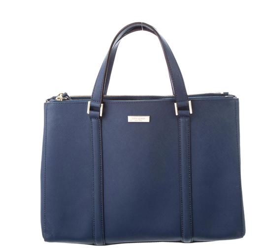 Preload https://img-static.tradesy.com/item/26300488/kate-spade-large-newbury-lane-loden-navy-blue-saffiano-leather-satchel-0-0-540-540.jpg