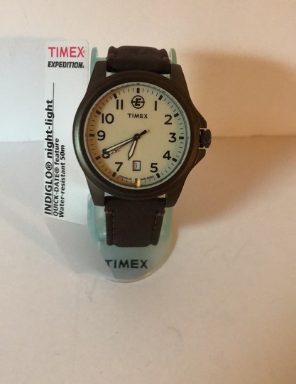 Timex Timex Expedition Indigo & Leather Strap Image 1