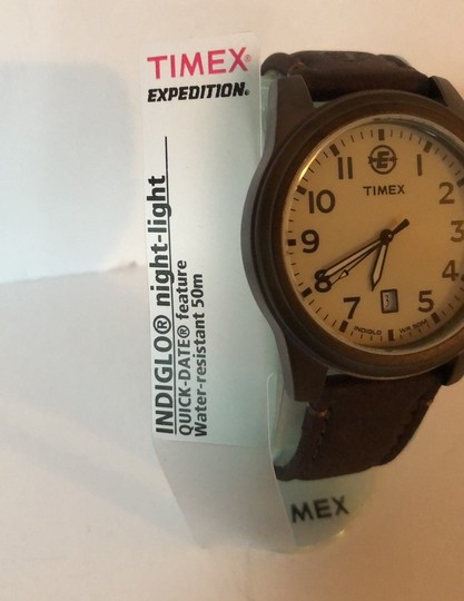 Timex Timex Expedition Indigo & Leather Strap Image 2