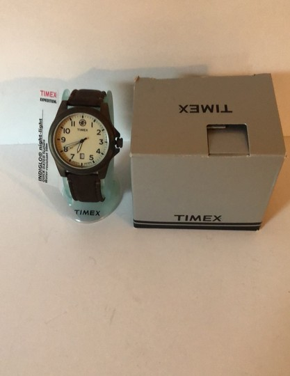 Timex Timex Expedition Indigo & Leather Strap Image 3