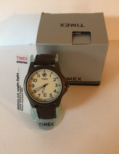 Timex Timex Expedition Indigo & Leather Strap Image 5