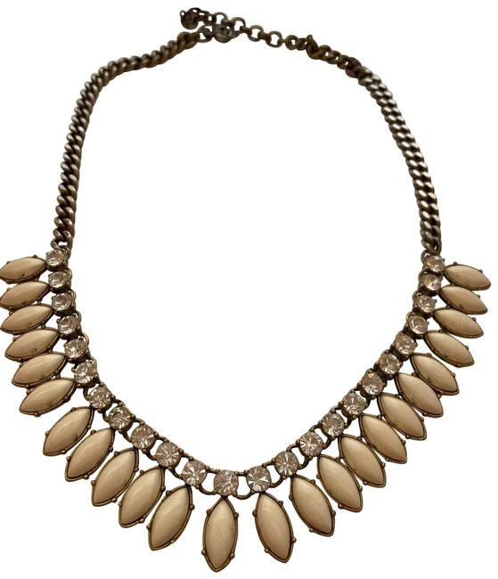 Item - White and Coral Statement Gem Necklace