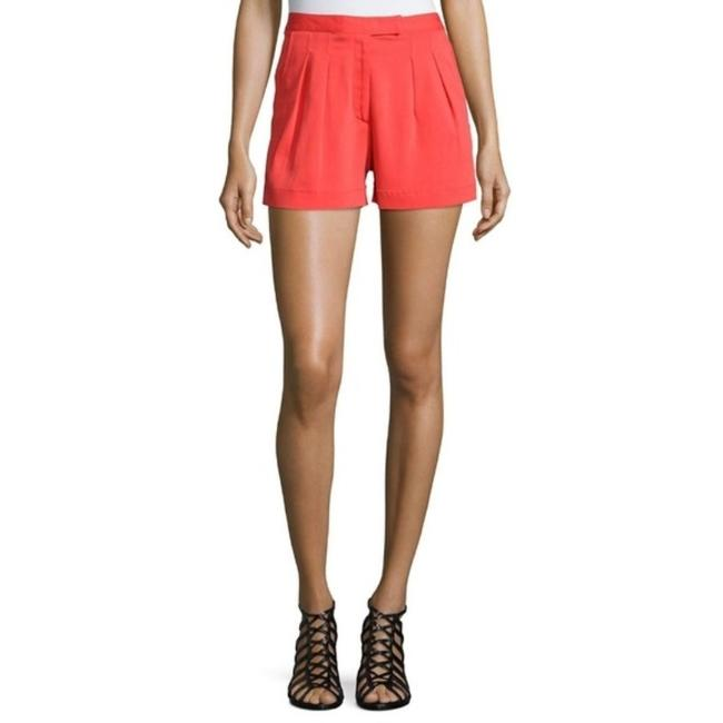 Nicole Miller Stretchy Pleated Crepe Dress Shorts Coral Image 1