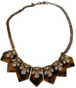 J.Crew tortoise and crystal statement necklace