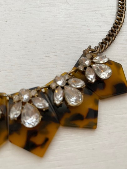 J.Crew tortoise and crystal statement necklace Image 1