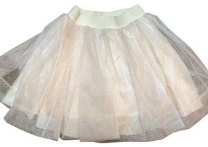In Deux Trois Gurls Small Size 10 Beautiful Ballet Style Skirt Mini Skirt cream with light gold sparkle