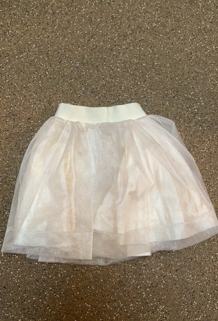 In Deux Trois Gurls Small Size 10 Beautiful Ballet Style Skirt Mini Skirt cream with light gold sparkle Image 2