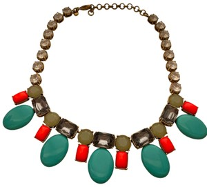 J.Crew colorful coral and teal statement