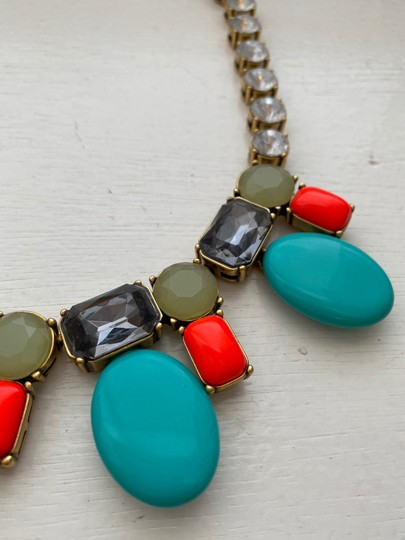 J.Crew colorful coral and teal statement Image 1