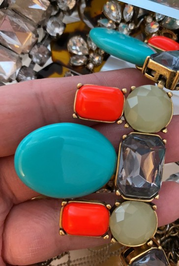 J.Crew colorful coral and teal statement Image 2