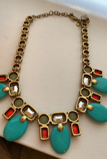 J.Crew colorful coral and teal statement Image 3