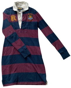 Rugby Ralph Lauren short dress Maroon and Blue on Tradesy