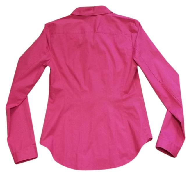 Halogen Longsleeve Fitted Bright Collared Button Down Shirt Fuchsia Image 1
