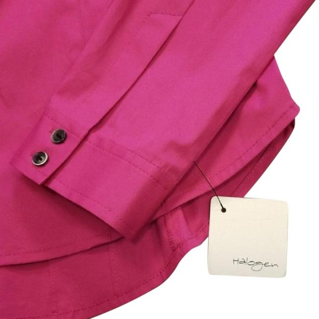 Halogen Longsleeve Fitted Bright Collared Button Down Shirt Fuchsia Image 2