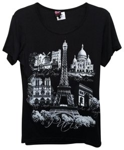 Other France Eifel T Shirt Black and white