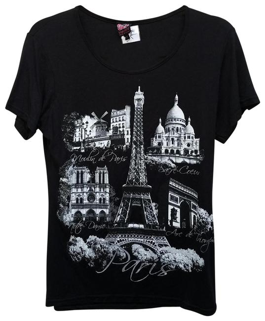 Preload https://img-static.tradesy.com/item/26300678/black-and-white-made-in-france-eiffel-tower-tee-shirt-size-4-s-0-2-650-650.jpg