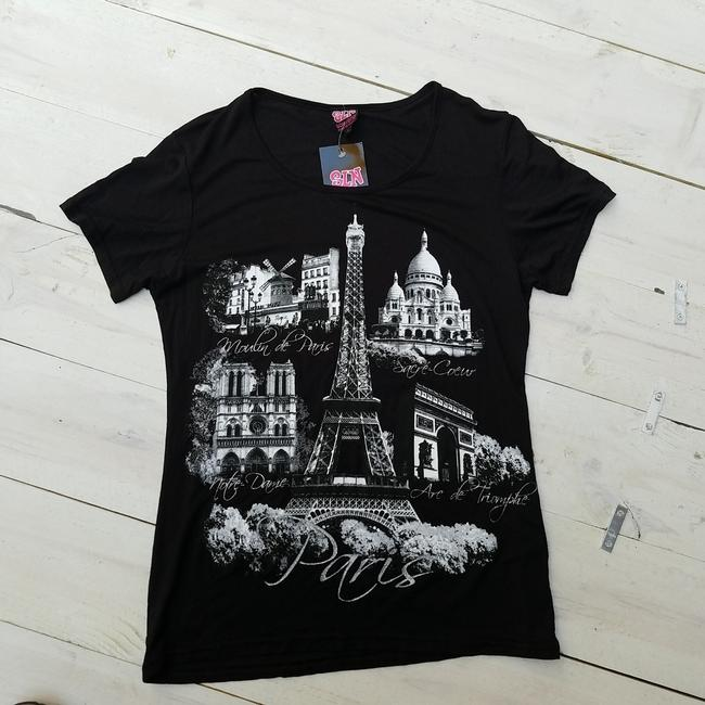 Other France Eifel T Shirt Black and white Image 3