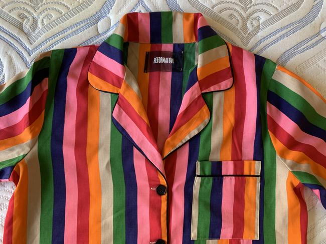 Reformation Button Down Shirt Multicolor Image 2