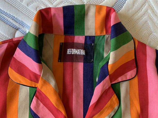 Reformation Button Down Shirt Multicolor Image 3