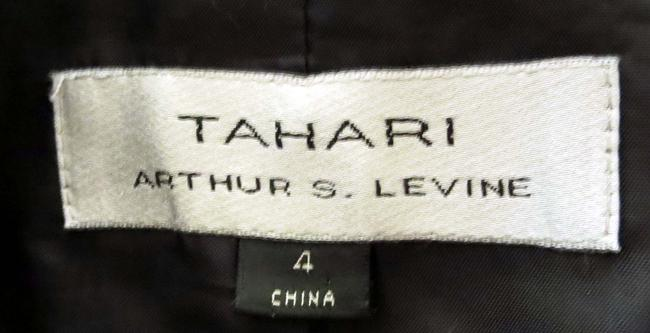 Tahari Flap Pockets Fit And Flare Fitted Black With White Pinstripes Blazer Image 7