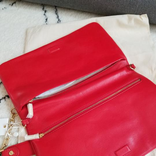 Tory Burch Red Clutch Image 5