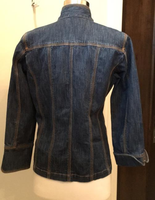 Chico's Dark denim Blazer Image 2