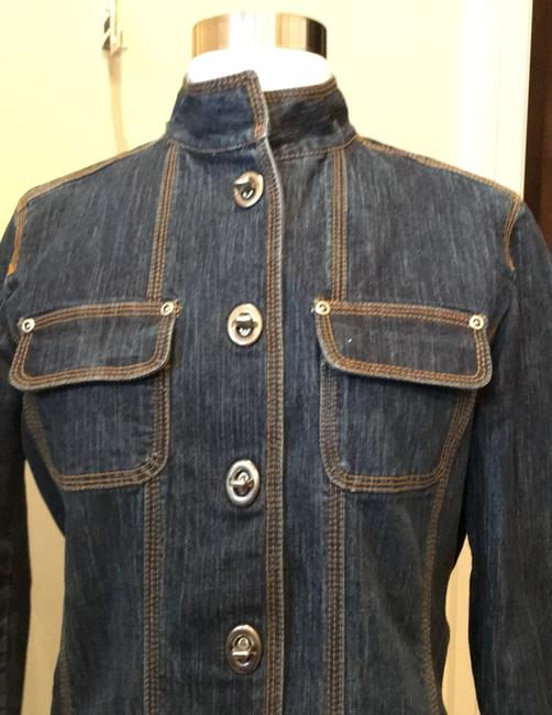 Chico's Dark denim Blazer Image 4