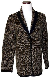 Nomadic Traders New With Tags Cotton/Ramie Shawl Collar Intricate Design Cardigan