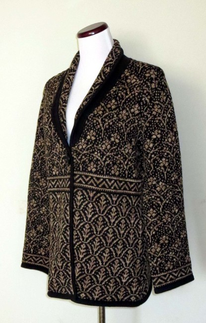 Nomadic Traders New With Tags Cotton/Ramie Shawl Collar Intricate Design Cardigan Image 1