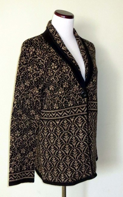 Nomadic Traders New With Tags Cotton/Ramie Shawl Collar Intricate Design Cardigan Image 2