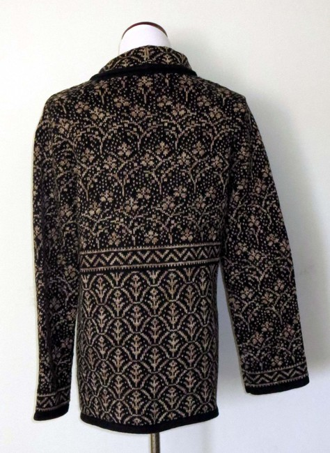 Nomadic Traders New With Tags Cotton/Ramie Shawl Collar Intricate Design Cardigan Image 3