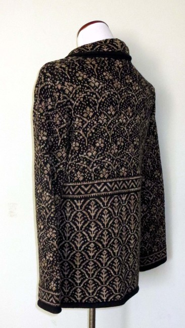 Nomadic Traders New With Tags Cotton/Ramie Shawl Collar Intricate Design Cardigan Image 4