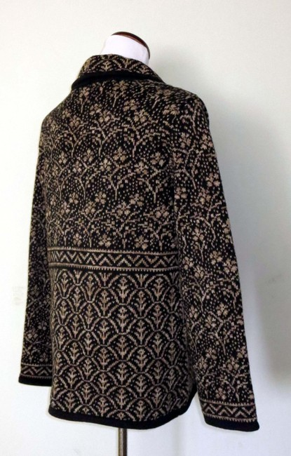 Nomadic Traders New With Tags Cotton/Ramie Shawl Collar Intricate Design Cardigan Image 5