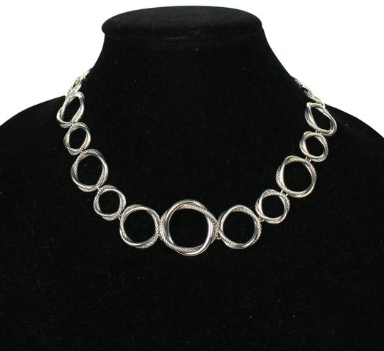 Preload https://img-static.tradesy.com/item/26300794/david-yurman-silver-circle-crossover-links-chain-all-around-necklace-0-1-540-540.jpg