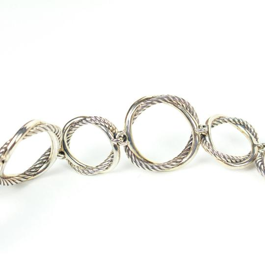 David Yurman Necklace Circle Crossover Links Chain Silver All Around Image 1