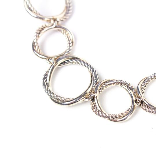 David Yurman Necklace Circle Crossover Links Chain Silver All Around Image 4