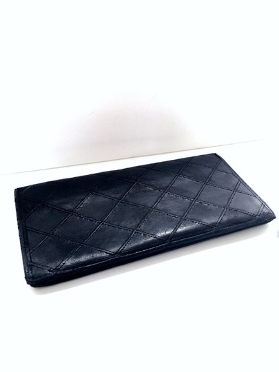 Chanel Chanel vintage black quilted leather bifold long wallet Image 3