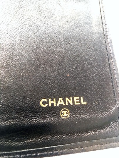 Chanel Chanel vintage black quilted leather bifold long wallet Image 5