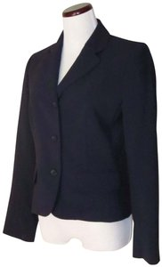 Victoria's Secret Fitted Flap Pockets Fully Lined Business Navy Blazer