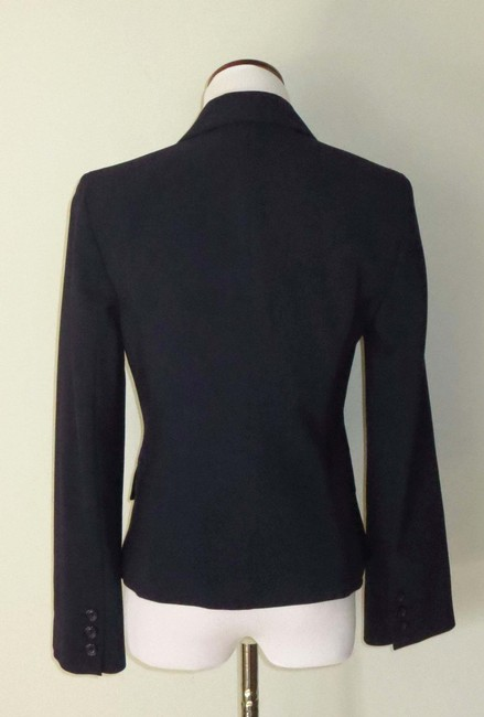 Victoria's Secret Fitted Flap Pockets Fully Lined Business Navy Blazer Image 3