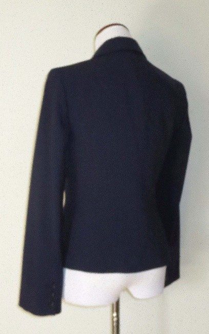 Victoria's Secret Fitted Flap Pockets Fully Lined Business Navy Blazer Image 4