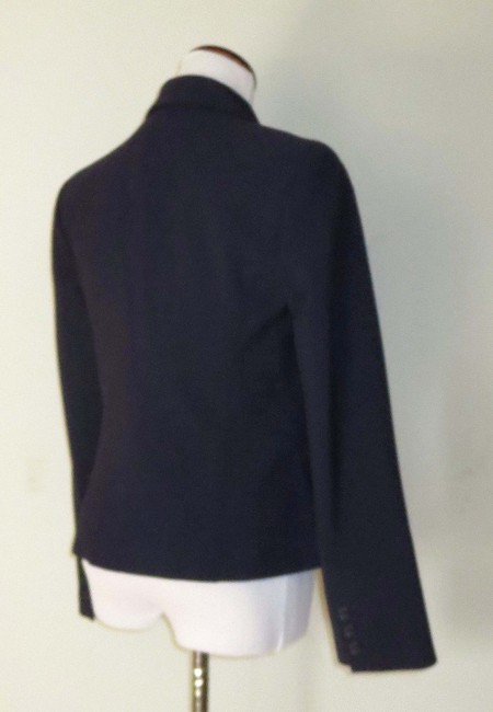 Victoria's Secret Fitted Flap Pockets Fully Lined Business Navy Blazer Image 5