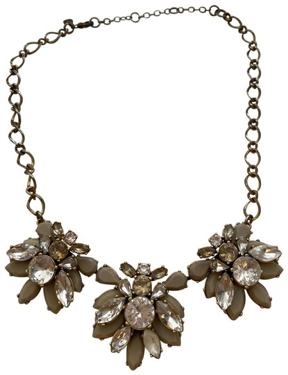 Preload https://img-static.tradesy.com/item/26300811/jcrew-gold-beige-and-crystal-statement-necklace-0-2-540-540.jpg