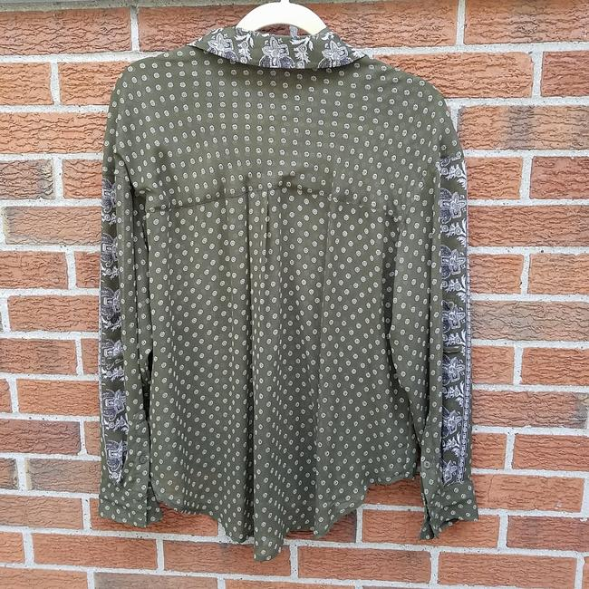 Free People Easy Rider Button Down Shirt Olive green Image 3