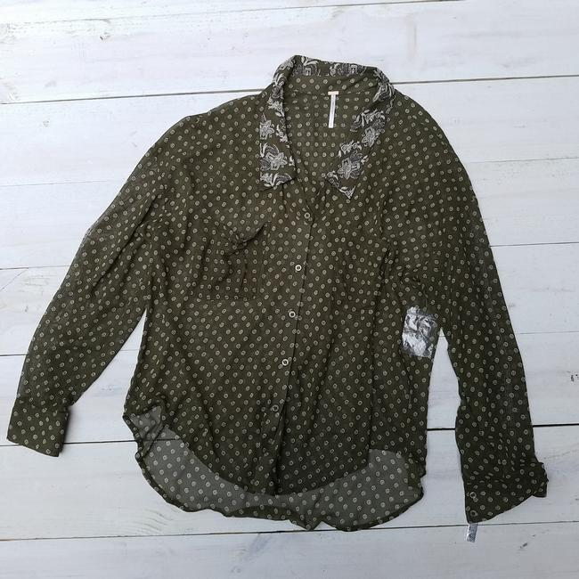 Free People Easy Rider Button Down Shirt Olive green Image 4