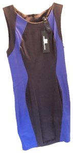 David Lerner short dress Charcoal/blue/charcoal on Tradesy