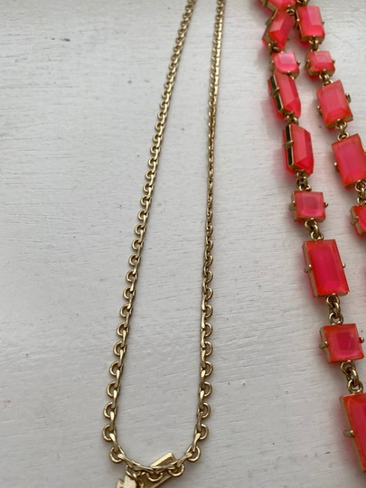 Kate Spade Kate Spade Clear Neon Bright Pink necklace Image 3