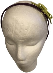 Marc Jacobs MARC BY MARC JACOBS PURPLE PLASTIC HAIR BAND WITH LIME GREEN BOW