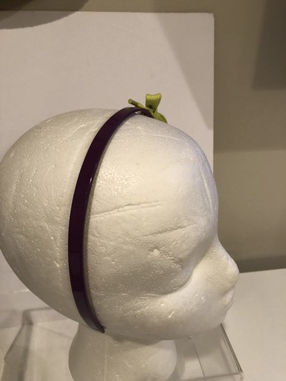 Marc Jacobs MARC BY MARC JACOBS PURPLE PLASTIC HAIR BAND WITH LIME GREEN BOW Image 3